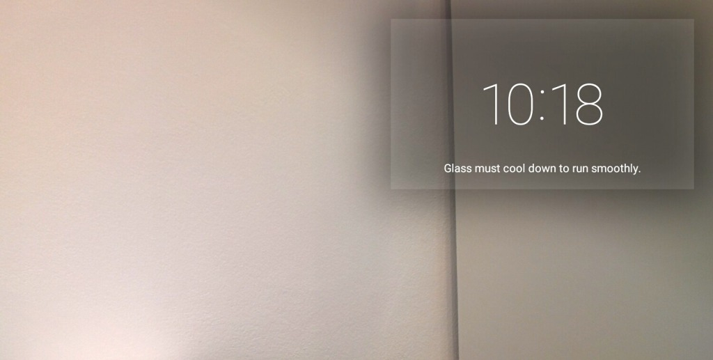 Google Glass Device Hot - Cooldown