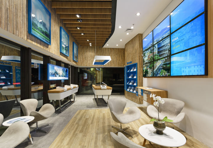 Dmitry posted interactive travel agencies for Travel agency office interior design ideas