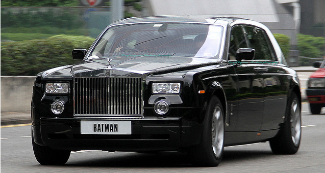 Rolls Royce Phantom license BATMAN Hong Kong