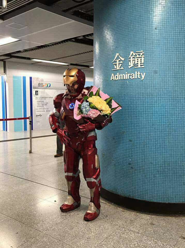 Valentines Iron Man in Hong Kong